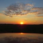Закат солнца в августе